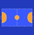 field for futsal orange outline lines futsal vector image
