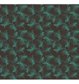 Floral seamless pattern blue and brown colors