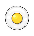 fried eggs omelet in cartoon flat style vector image vector image