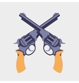 Guns flat vector image