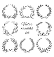 Hand drawn wreaths set vector image vector image
