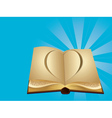 Heart cut out of book vector image vector image