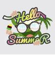 Hello Summertime Badge Design vector image vector image