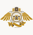 heraldic coat of arms decorative emblem of eagle vector image vector image