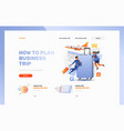 how to plan business trip header template vector image vector image
