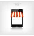 Internet shopping concept Realistic smartphone E vector image vector image