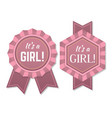 its a girl babyborn label or badge vector image
