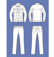 Jacket and jeans vector image