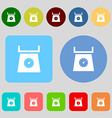 kitchen scales icon sign 12 colored buttons Flat vector image vector image
