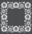 lace floral frame design ornamental square vector image