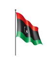 libya flag on a white vector image