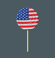 Lollipop with American flag USA Caramel candy vector image