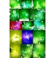Mega set of shiny Christmas cards vector image