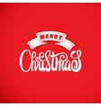 Merry christmas hand-lettering text Handmade vector image