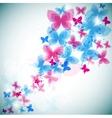 modern butterflies background vector image vector image