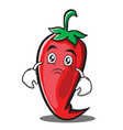 moody red chili character cartoon vector image vector image