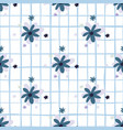 navy blue chamomiele flowers seamless pattern vector image vector image