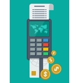 payment terminal with card vector image vector image