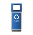 plastic garbage bin mockup realistic style vector image