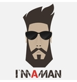 Portrait of a bearded man vector image