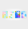 poster covers set with circle shapes 3 vector image vector image