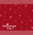 red card valentines day with drawing hearts vector image vector image