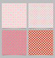 repeating heart pattern background set - love vector image vector image