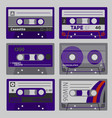 retro cassettes set vector image