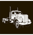 retro truck classic diesel vehicle cargo isolated vector image