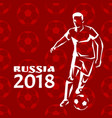 russia footballer poster title vector image vector image