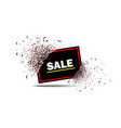 sale banner with explosion effect with red frame vector image vector image