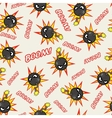 Seamless texture with stylized cartoon bombs vector image