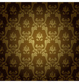 seamless vintage wallpaper background stamping old vector image vector image