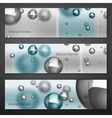 Silver Particles Banners vector image vector image