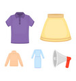 skirt t-shirt sweater dress with long sleeves vector image vector image