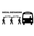 social distancing 6ft feet apart when boarding vector image vector image