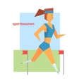 Sportswoman Abstract Figure vector image
