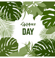 square frame composed tropical leaves vector image vector image