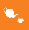 teapot on orange vector image