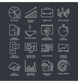 Thin line marketing icons set vector image