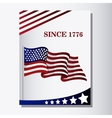 United states of america flag design vector image vector image