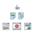Web UI UX Tools vector image