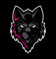 wolf head logo great for sports logotypes and vector image vector image