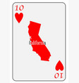 usa playing card 10 hearts vector image