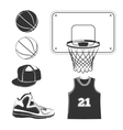 elements icons for basketball club labels vector image