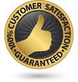 100 percent customer satisfaction guaranteed vector image vector image