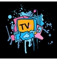 Abstract colorful TV vector image