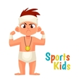 baby diapers winner cartoon vector image