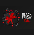 black friday sale gift box realistic style vector image