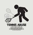 Black Symbol Graphic Tennis Abuse vector image